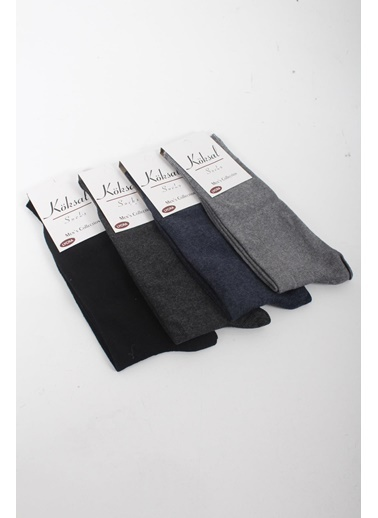 Oksit Oksit Pamuklu 12 Çift Erkek Çok Renkli Çorap Renkli